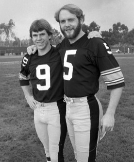 Place kicker Matt Bahr (left) and punter Craig Colquitt. (Albert M. Herrmann Jr./The Pittsburgh Press)
