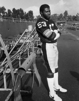 "Dennis ""Dirt"" Winston substituted for injured linebacker Jack Ham in the '80 Super Bowl. (Albert M. Herrmann Jr./The Pittsburgh Press)"