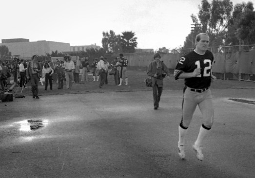 Quarterback Terry Bradshaw would be named Most Valuable Player of Super Bowl XIV. (Albert M. Herrmann Jr./The Pittsburgh Press)