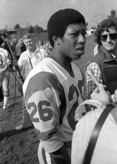 Rams running back Wendell Tyler. (Howard Moyer/The Pittsburgh Press)
