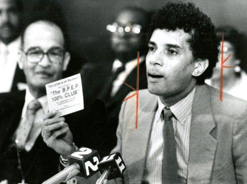 Black political leader, heads Black Empowerment group, 1986.