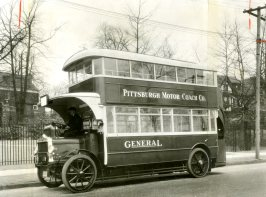 That was a double-decker street car, the experiment that didn't quite work in Pittsburgh.