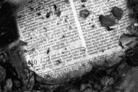 The fire burned hymnals and Bibles. (Steve Mellon/The Pittsburgh Press)