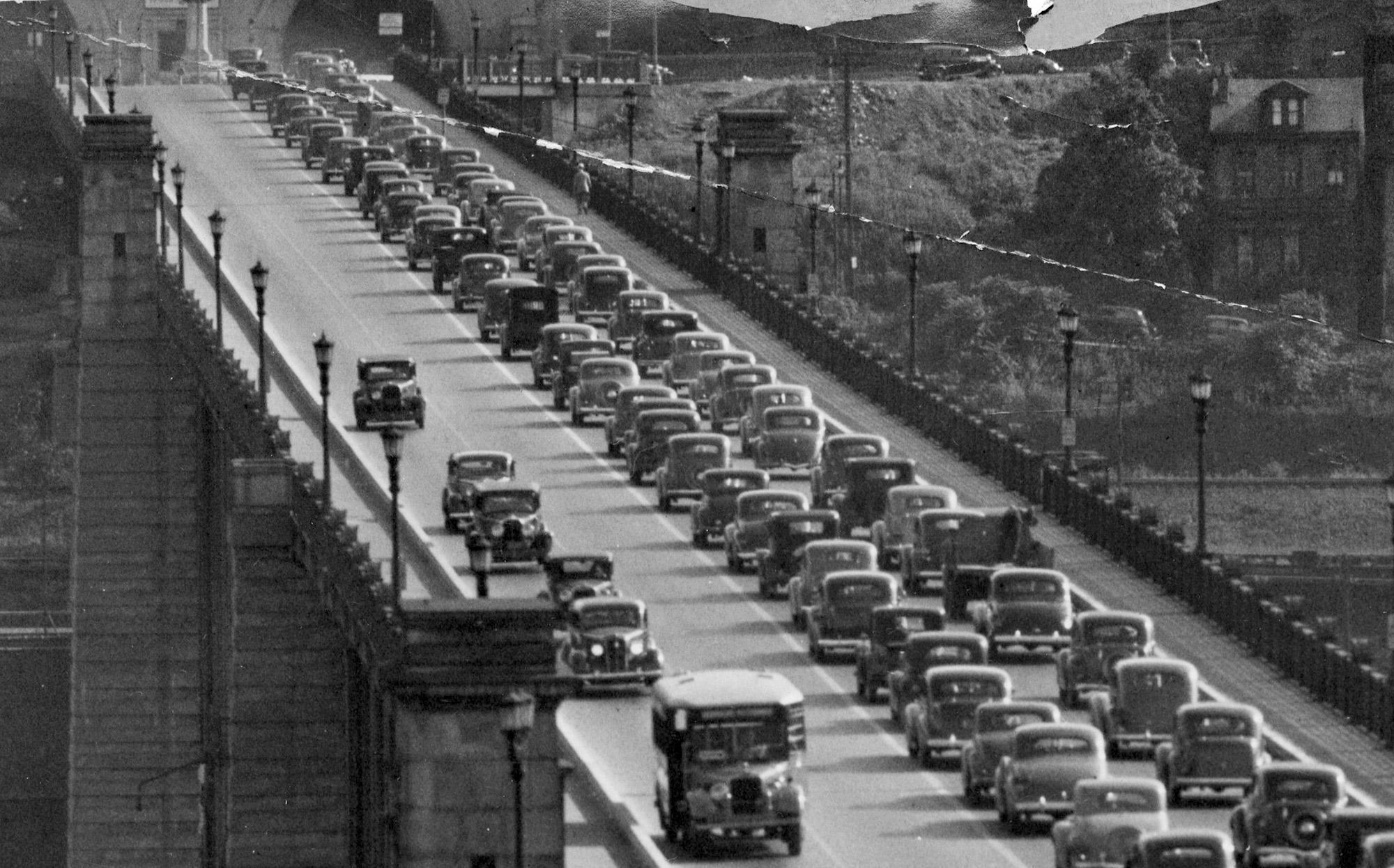 Liberty Bridge on August 10, 1937. (Post-Gazette)