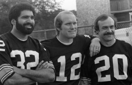 Franco Harris, Terry Bradshaw and Rocky Bleier. (Morris Berman/Post-Gazette)