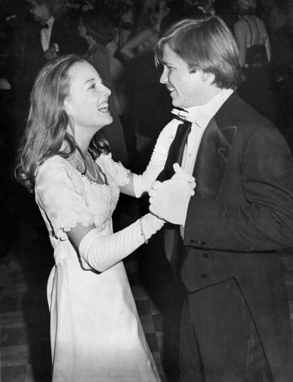 Nancy Baton Scheetz dances with Prince Charming Charles R. Stewart of Squirrel Hill in 1976. Scheetz is the daughter of Edwin Scheetz of Fox Chapel. (Michael Chikiris/The Pittsburgh Press)