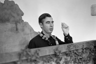Fred Rogers before taping in the Neighborhood of Make-Believe.