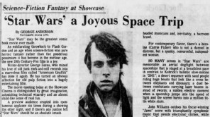 """Post-Gazette film critic George Anderson reviews """"Star Wars: A New Hope"""" in the paper's May 25, 1977, edition."""