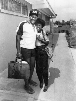 Willie Stargell hugs his daughter, Precious, in 1981. (Post-Gazette)