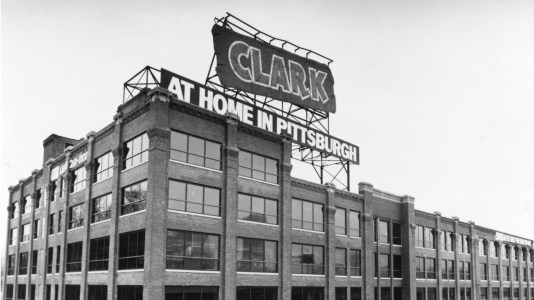 The D.L. Clark Co. plant sits mostly empty ahead of what would prove to be a temporary closure. Picture taken Jan. 1990. (Pittsburgh Press)