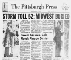 Page A-1 of the Pittsburgh Press on Jan. 28, 1978.