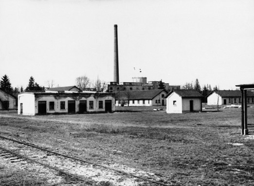 The exterior of the concentration barracks of Dachau, shown March 23, 1933. (Associated Press)