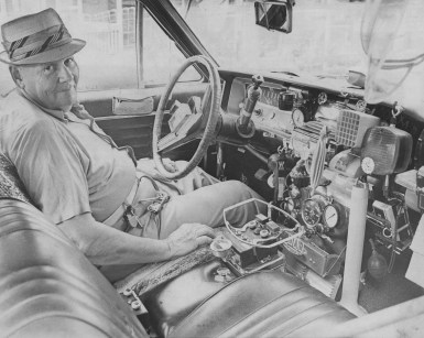 When this photo was taken in 1978, inventor Bill Truitt said he was just about ready to convert his Buick to air power. All the gadgets he'll need are installed in his car but not attached to anything. (Ross A. Catanza/Pittsburgh Press)