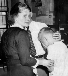 After being detained at juvenile court, Mickey Chervenak meets his mother Shirley Chervenak.