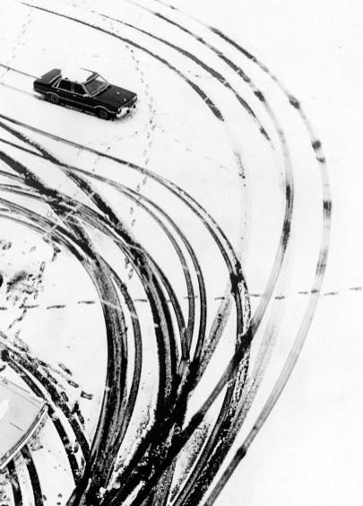 The Three Rivers Stadium parking lot, Jan. 2, 1987. (Mark Murphy/Post-Gazette)