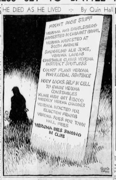 This cartoon appeared in the Sun-Telegraph after Verona's death.