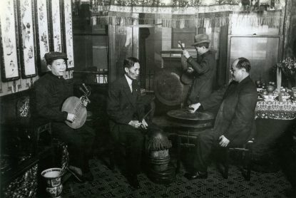 Musicians in Chinatown, circa 1912. (Mel Seidenberg Photographs, Detre Library & Archives, Heinz History Center)
