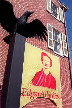 Raven sculpture outside of the Edgar Allen Poe National Historic Site. (Photo by Tom Gralish)