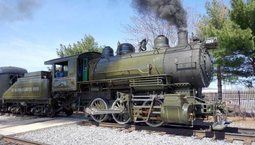 Steamtown National Historic Site had been without an operating steam locomotive to power its short train rides and excursions for three years until the Baldwin #26 was restored. (Laura Legere/Post-Gazette)