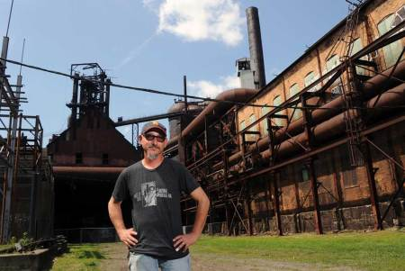 Ron Baraff Director of Historic Resources and Facilities at Carrie Furnace. (Lake Fong/Pittsburgh Post-Gazette)