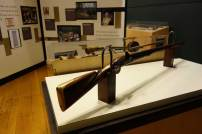 The visitor's center at Valley Forge National Historical Park features firearms and other objects from its voluminous collection of Revolutionary War-era military items. (Laura Legere / Post-Gazette)
