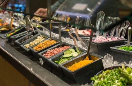 Salad bar items are pictured at Eat'n Park on Friday, April 6, 2018 in Avalon. (Lake Fong/Post-Gazette)