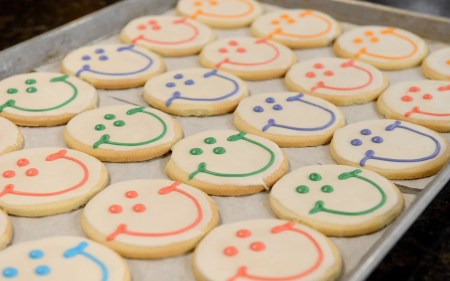 Freshly baked Smiley cookies are pictured at Eat'n Park on Friday, April 6, 2018 in Avalon. (Lake Fong/Post-Gazette)