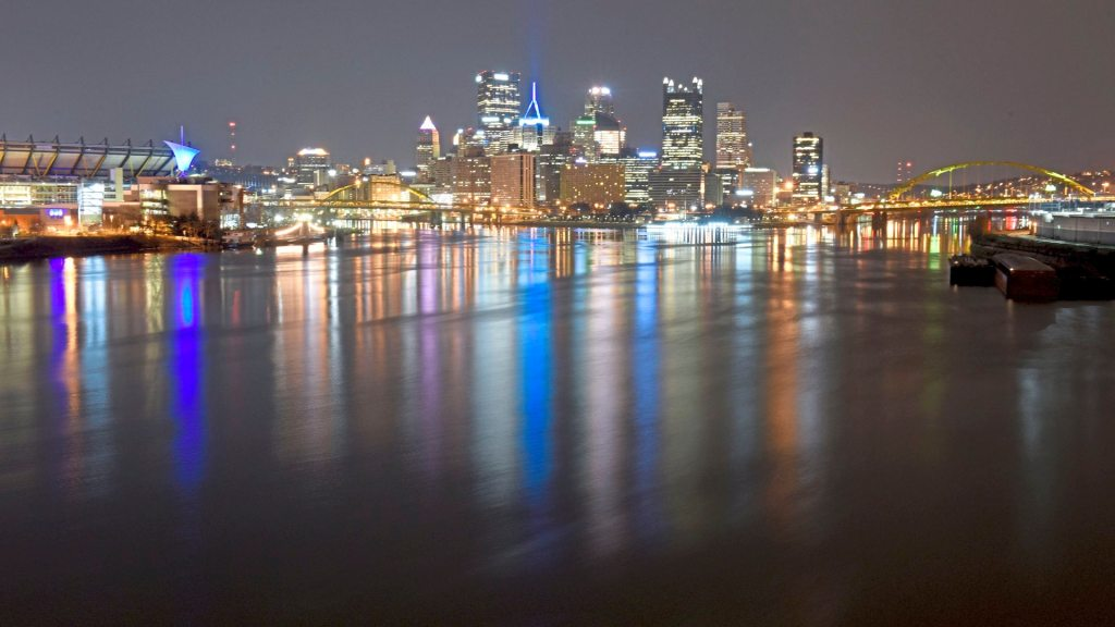 The skyline is shown in a view from the West End, Thursday April 13, 2018 in Pittsburgh. (Darrell Sapp/Post-Gazette)