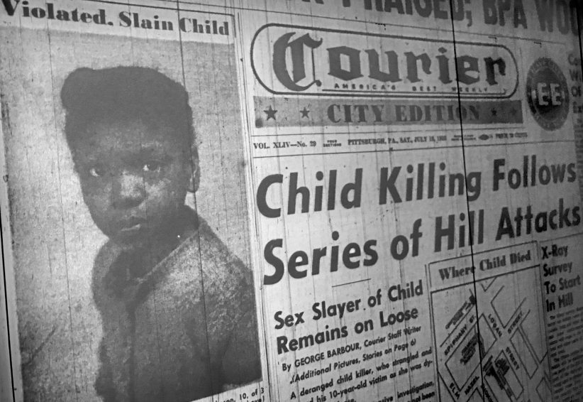 The rape and murder of Julia Mae dominated the front page of the Pittsburgh Courier on July 18, 1953. The city's daily newspapers gave the story scant attention.