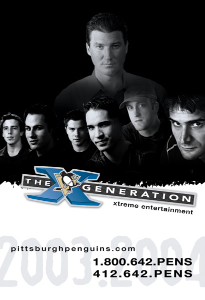 An advertisement used by the Penguins for the 2003-04 season. (Courtesy Pittsburgh Penguins)