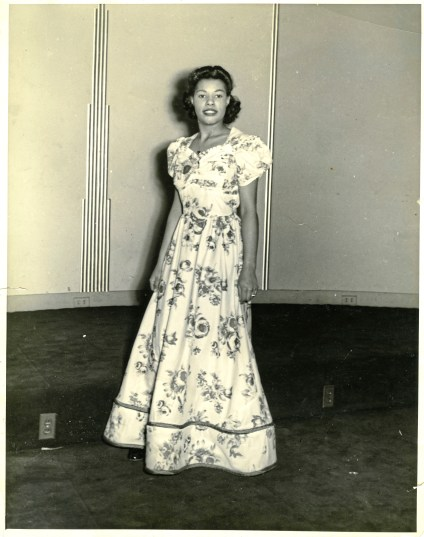 Zerbie Dorsey circa 1940 in the dress she wore to a dance at Schenley High School. She stepped in as her brother's date after his girlfriend took sick. credit: Dorsey-Turfley family photos, Detre Library & Archives, Sen. John Heinz History Center