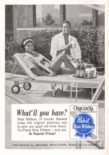 Pabst Blue Ribbon ad in Jet Magazine, 1965. (Courtesy of Heinz History Center)