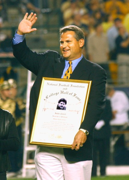 Jimbo Covert was inducted into the College Football Hall of Fame in 2003.