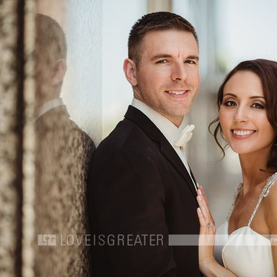 Erin Lindsay and Andrew Riley. Photo credit: Love is Greater