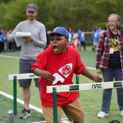 DeVeaux Elementary School sixth grader Charles Sarver after his first throw of the softball competition. Start High School hosts the Special Olympics competition at the school in Toledo, Ohio on May 17, 2019. It is the Sixth year that Toledo Public Schools has hosted the event. The Blade/Jetta Fraser