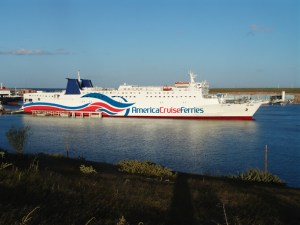 The Caribbean Fantasy ferry, which connects Puerto Rico and the Dominican Republic three times a week.