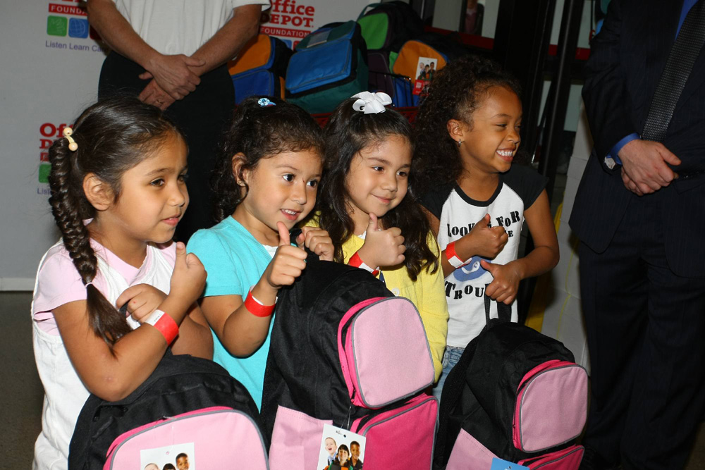 Since 2001, the Office Depot Foundation has distributed more than 2.5 million backpacks.
