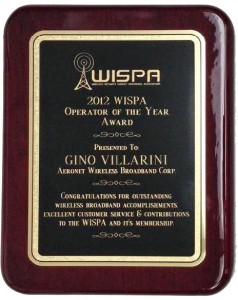 Aeronet was chosen among 600 WISPA members for providing innovative services.