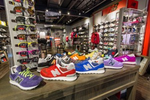 The 2,000 square foot showroom feature a variety of unique shoe models for different sports, with particular emphasis on running and training for men, women and children.