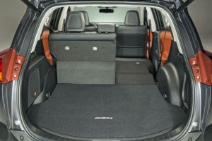 With rear seats folded, RAV4 has a maximum cargo capacity of 73.4 cubic feet.