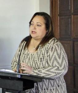 Treasury Secretary Melba Acosta.