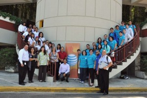 Puerto Rico high schoolers and teachers who took part in this year's HACEMOS event.