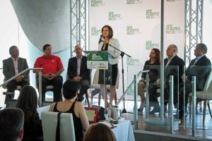 Tourism Company Executive Director Ingrid Rivera-Rocafort during a news conference Wednesday.