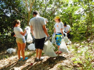 The volunteers loaded scores of garbage bags of trash, including bottles, paper, cigarette butts, cans, tires and even personal items such as clothing, said Néstor Figueroa, president of IAMCP Puerto Rico.