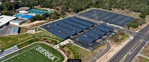 Borrego Solar's project list includes the Sierra Community College District.