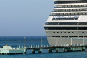 While cruise-ship passenger arrivals made up only 32 percent of the pie in 2010, they comprised 40 percent of all visitor arrivals to Jamaica last year. (Credit: Larry Luxner)