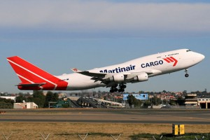 Martinair flies cargo out of Puerto Rico to Holland three times a week.
