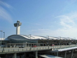 """Terminal 4 at JFK International Airport is one of the """"most modern, efficient, spacious and unique terminals in the New York area."""" (Credit: www.wikipedia.org)"""