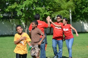 AON employees and the kids from the two nonprofits had a day of fun earlier this month.
