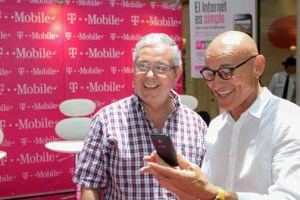 T-Mobile's pilot program is coupled with an advertising campaign featuring local motivator, educator and farmer Douglas Candelario (right) as spokesman.